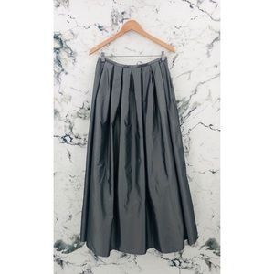 Part Two Crinkled Layered Tulle Maxi Skirt Grey